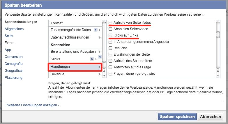 Klickzahlen Facebook Anzeigen - Fotos vs Links