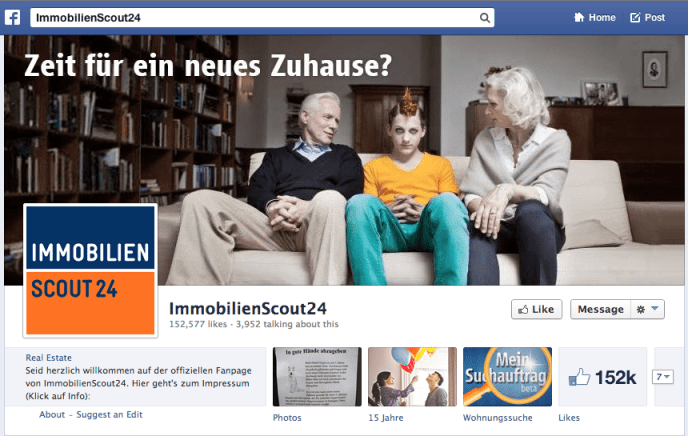 Facebook Marketing ImmobilienScout24