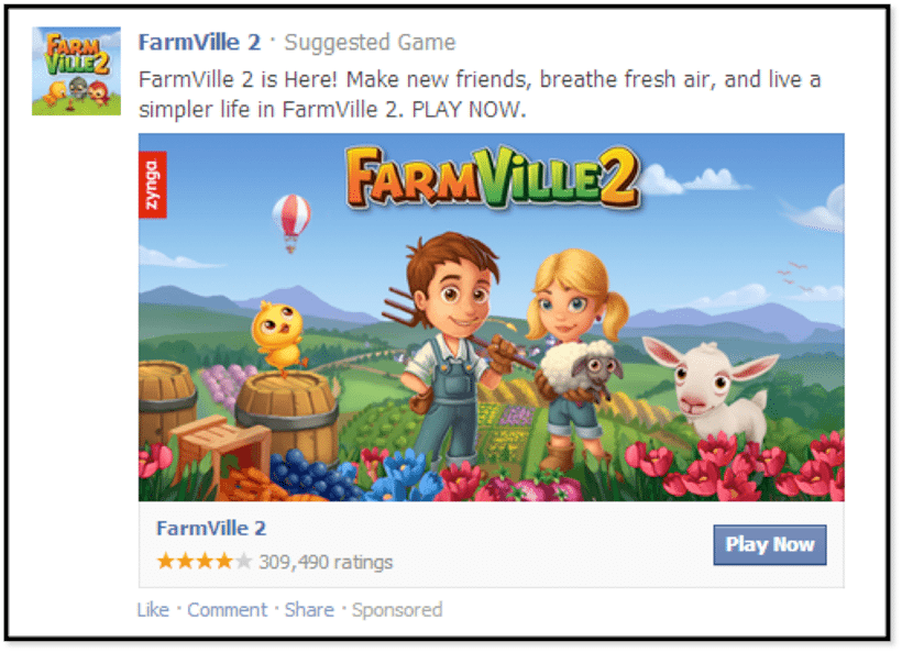 Facebook Anzeigenformat - Desktop Canvas App Ads