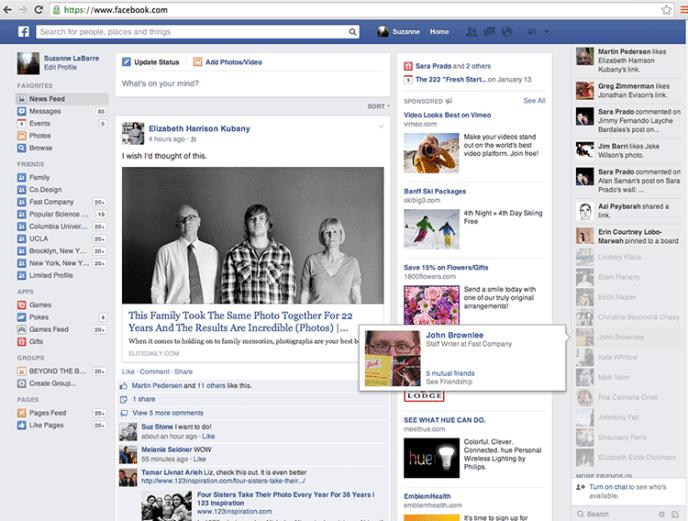 Facebook News Feed Design