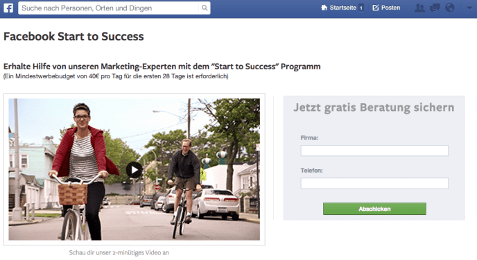 Facebook Start to Success - Beratung KMUs