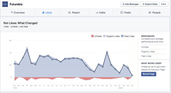 Facebook Seiten verbergen  - Facebook Statistiken
