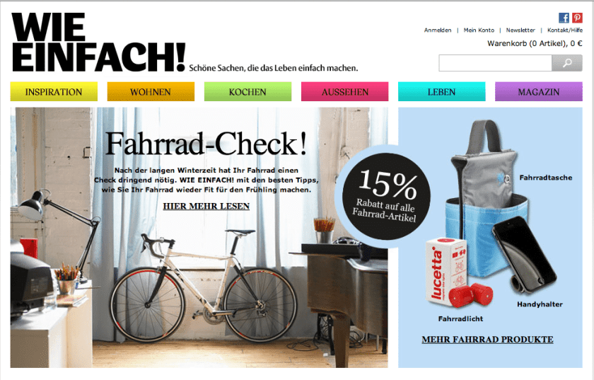 Content Marketing oder eCommerce - Shop E wie Einfach
