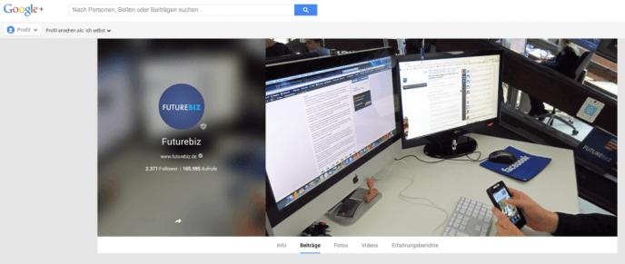Google+ Aufrufe - Statistiken für Aufrufe von Google+ Seiten
