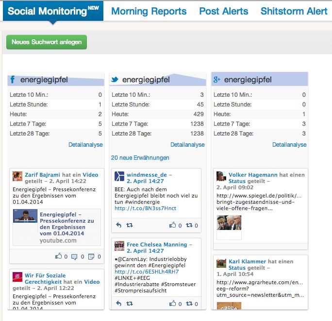 Social Monitoring - fanpage karma