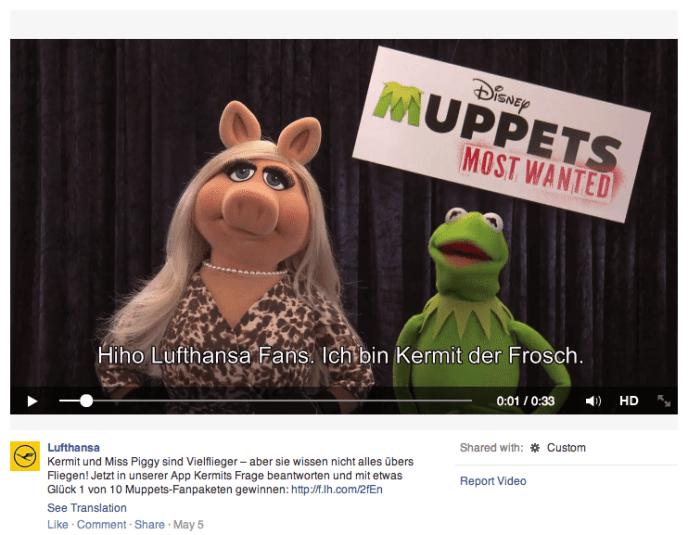 Facebook Videos als Contentformat - Lufthansa