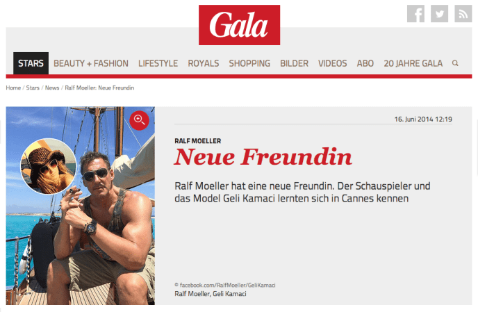 Embedded Content - Eigene Zusammenstellung von Gala.de