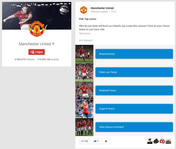 Google+ Abstimmungen - Mehrere Antworten mit Bild