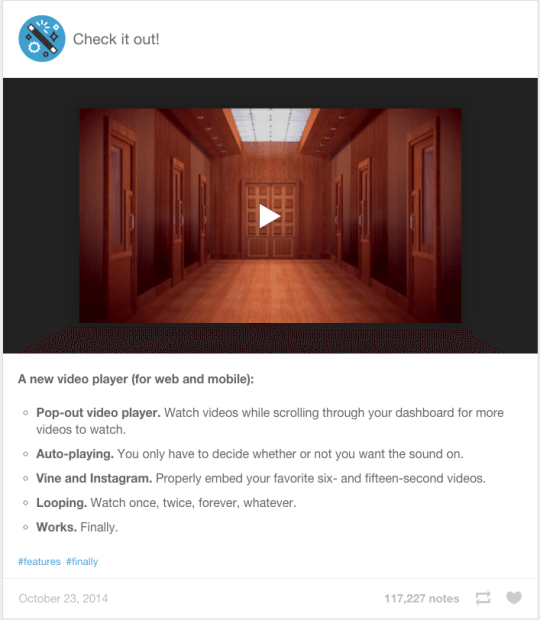 Tumblr - Videoplayer als Alternative zu YouTube