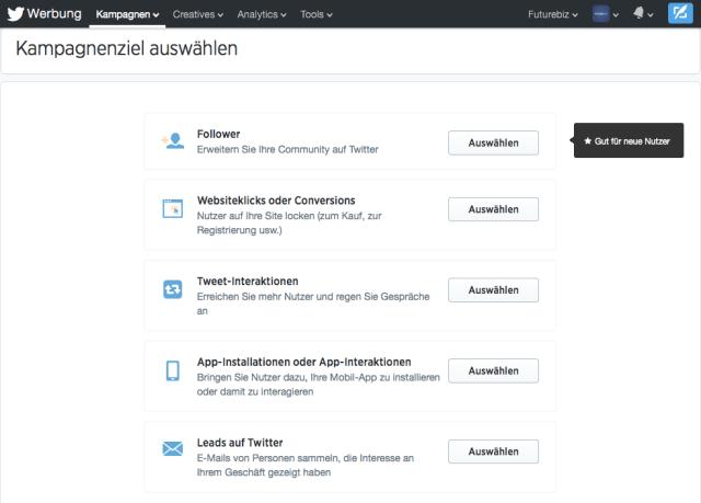 Twitter Anzeigen - Self Service Tool für alle Unternehmen in Deutschland verfügbar