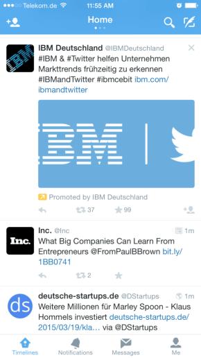 Twitter Anzeigen Fail - Fehlerhafte Darstellung Timeline