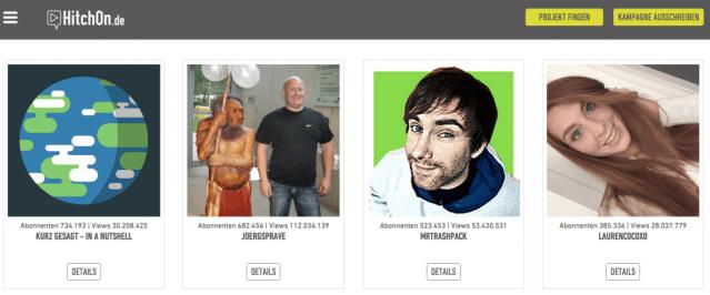 HitchOn - Kooperationen und Kampagnen mit YouTube Stars