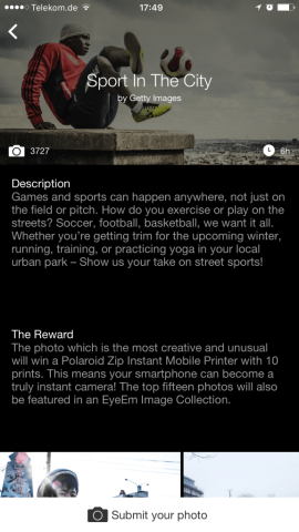 Content Curation eyeem Missions