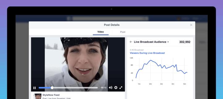 Facebook Live Video - Statistiken zur Performance