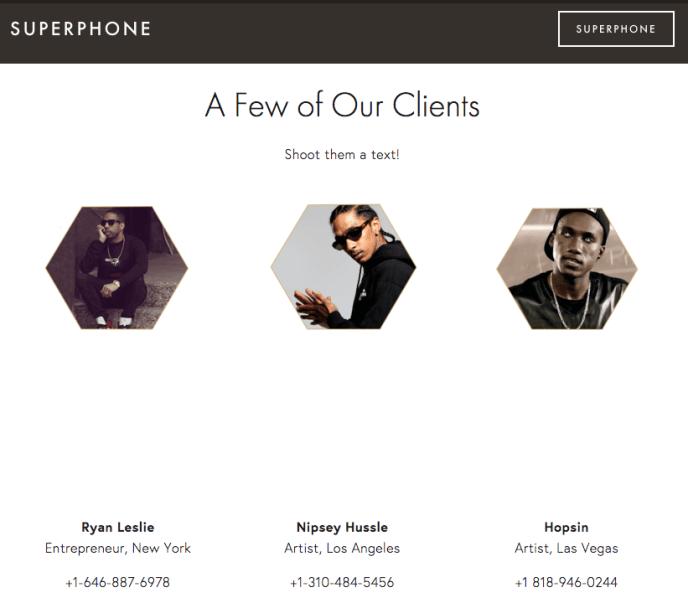 SuperPhone - Mobile Messenger Marketing für Künstler und Influencer