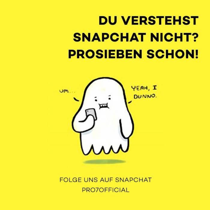 Unternehmen auf Snapchat - ProSieben-Snapchat-Week