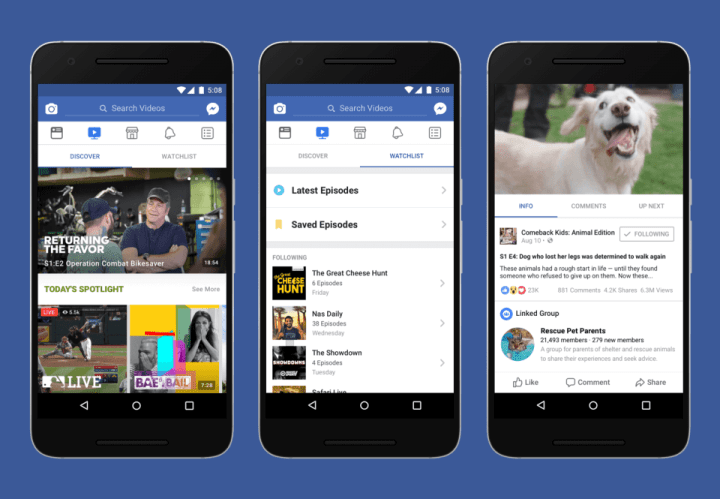 Facebook Watch - Exklusive Videoformate