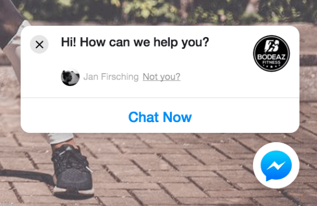 Facebook Messenger Bot Webseitenintegration - Plugin