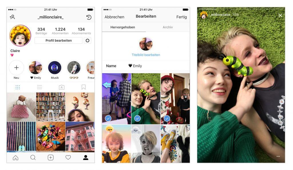 Neue Features für Instagram Stories: Stories-Archiv & Stories ...