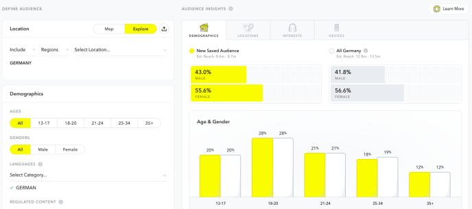 snapchat-anzeigenmanager-audience-statistiken