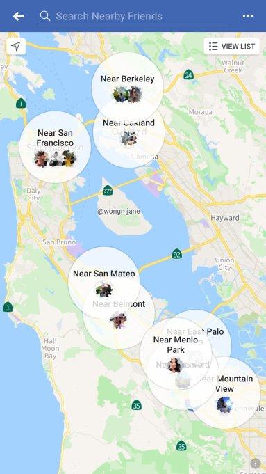 Facebook-Freunde-in-der-nähe-Map