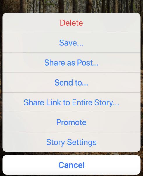 Test: Links zu veröffentlichten Instagram Stories teilen