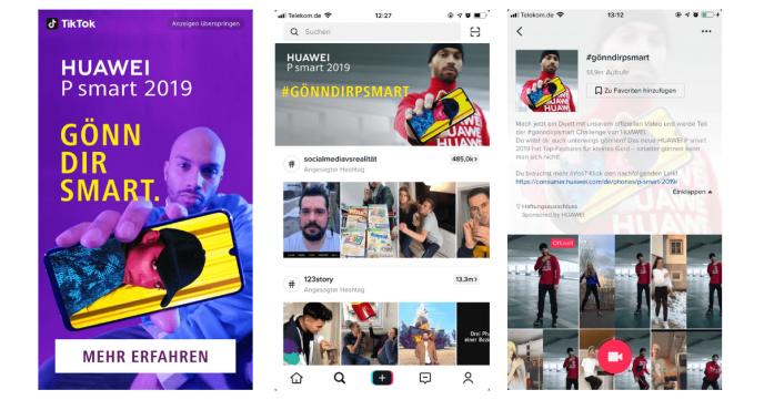 TikTok-Anzeigen-Hashtag-Challenge-Huawei