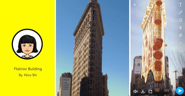 Snapchat-Lense-Landmarker Flatiron Nico