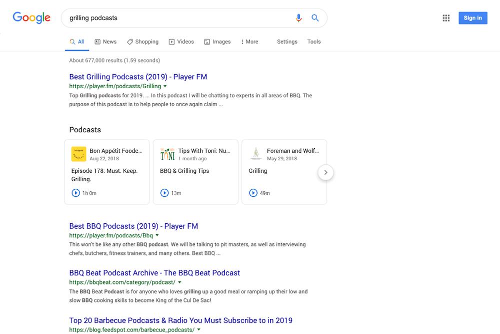 Podcast Discovery: Google zeigt Podcasts in den Suchergebnissen an