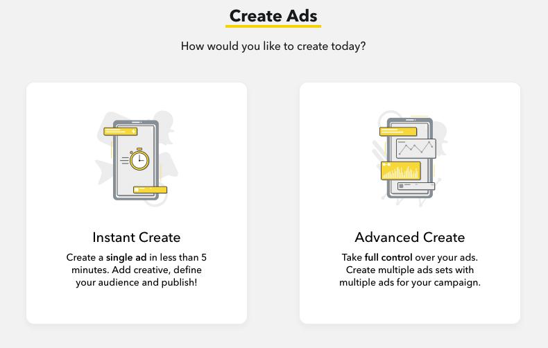 Instant Create: Snapchat Anzeigen in drei Schritten erstellen