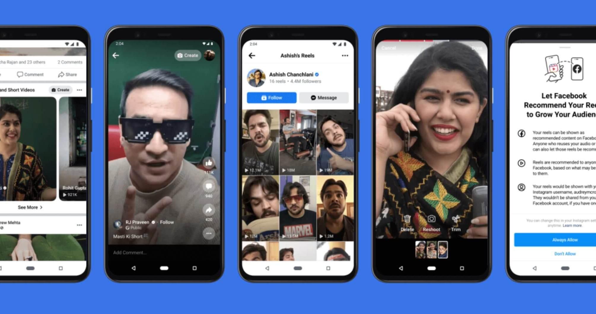 Instagram Reels auf Facebook empfehlungen