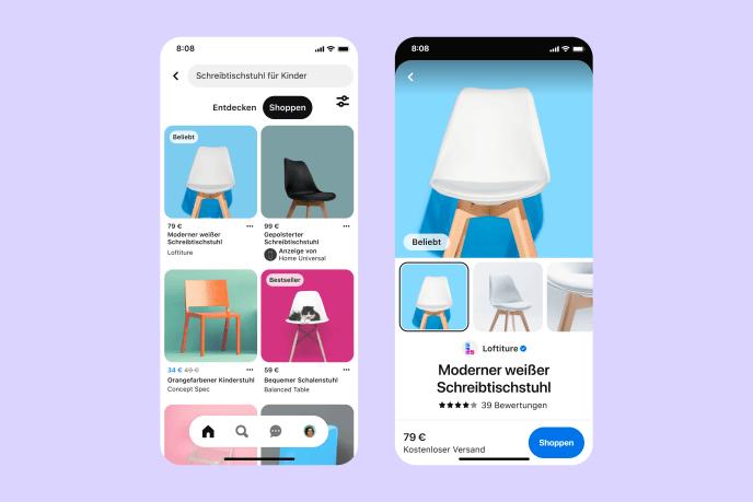 Pinterest-Shopping-Suche-Tab