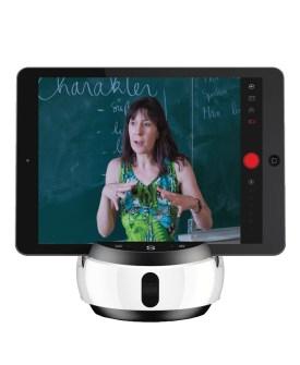 Swivl Robot with a teacher on the screen
