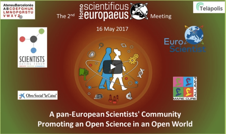 Join in on Tuesday May 16th: The 2nd Homo scientificus europaeus Meeting
