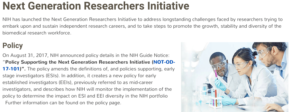 Join us TODAY (October 31st) 1pm EST for a Tweetchat about NIH's new Next Generation Researchers Initiative