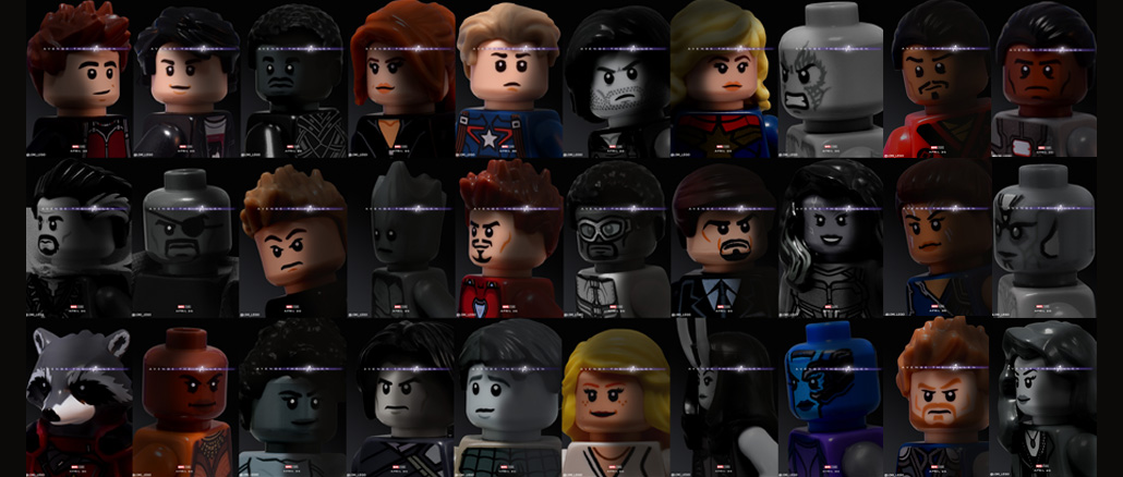 32 Avengers Endgame Character Posters Recreated in LEGO