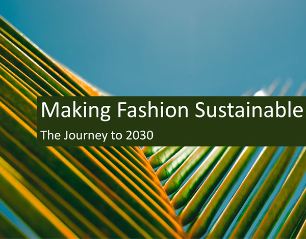 Making Fashion Sustainable: The Journey to 2030