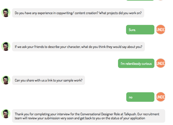 HRchatbot example