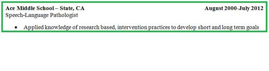 category resume future speech language pathologists futureslps