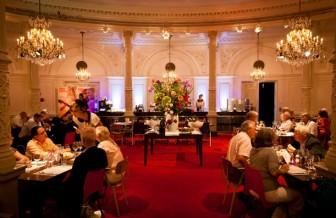Dining inside Amsterdam's Royal Concertgebouw