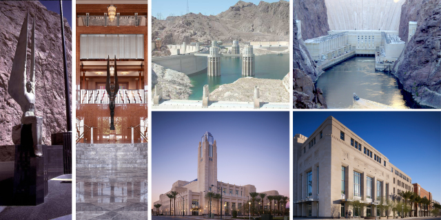 With no architectural style indigenous to Las Vegas, the firm drew inspiration from the area's greatest achievement, the Hoover Dam.