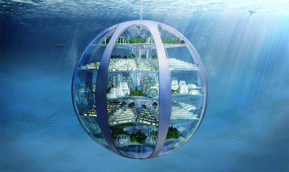 underwater bubble city 2100