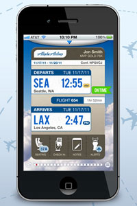Alaska Airlines Adds Check In And Boarding Pass To Iphone