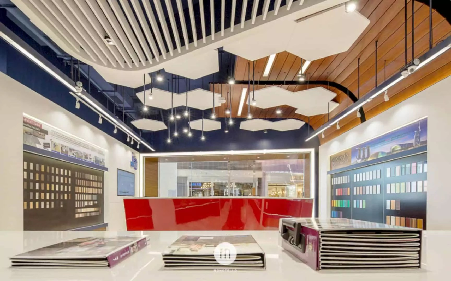 BFM Showroom at CDC: Luxury Interior Design of Showroom with Bright Atmosphere
