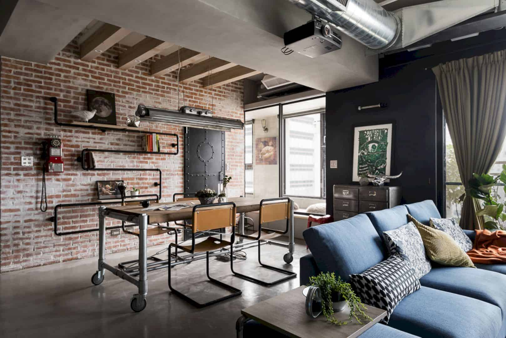 Hao design uses some different materials to create the vintage interior in recall casa the new wall has been changed into a rough and original concrete