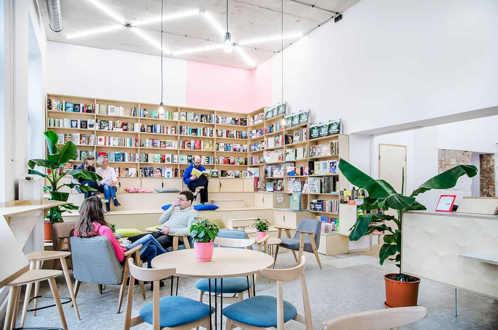 Kahawa: Minimalist Interior Design of A Coffee House and Bookshop with Three Different Zones