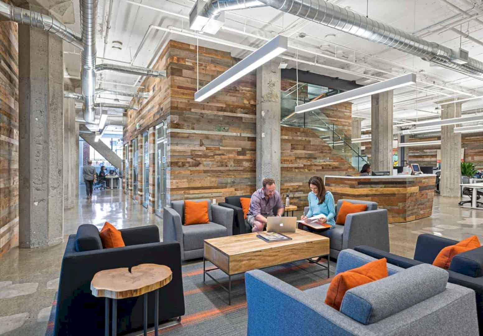 Rally Health: Redesign of 1980's Office Space with Contemporary Interior for New Work Areas