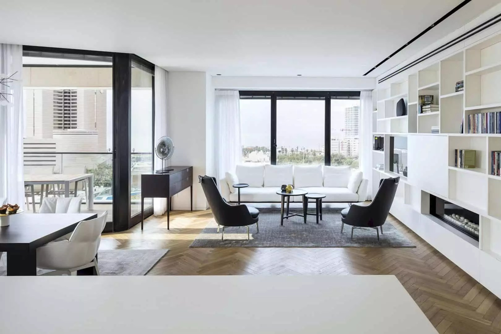 M Apartment: Elegant Interior Design of Apartment with the Feeling of Openness by the View