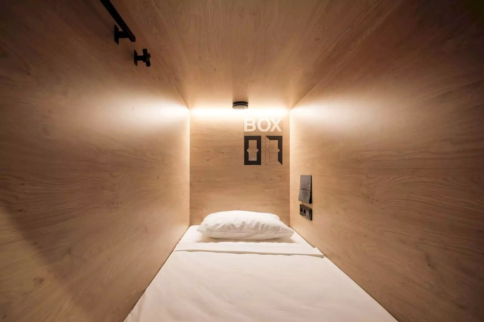 inBOX Capsule Hotel: The Five-Star Hostel with Modern Interior and Unique Personal Space