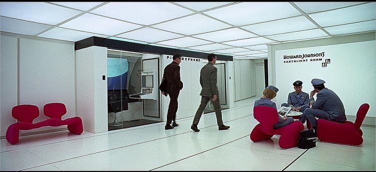 2001: Odissea nello Spazio, la Eartlight room